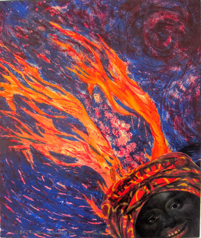 Betye Saar, 'Blow Top Blues: The Fire Next Time', 1998