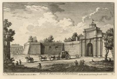 Giuseppe Vasi, 'Porta S. Pancrazio ot. Janiculensis', 1747