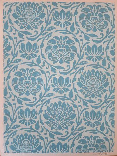 Shepard Fairey, 'Floral Harmony Light Blue YIN YANG', 2020