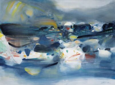 Chu Teh-Chun, 'Skimming over the surface', 1990