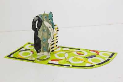 Betty Woodman, 'Aztec Vase and Carpet #4', 2012