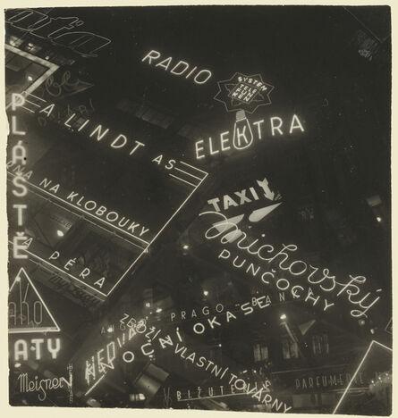 Jaromír Funke, 'Neon Signs', 1930-1939