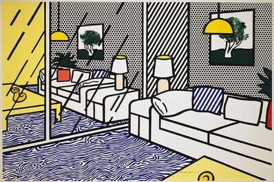 Roy Lichtenstein, ' Wallpaper With Blue Interior', 1992