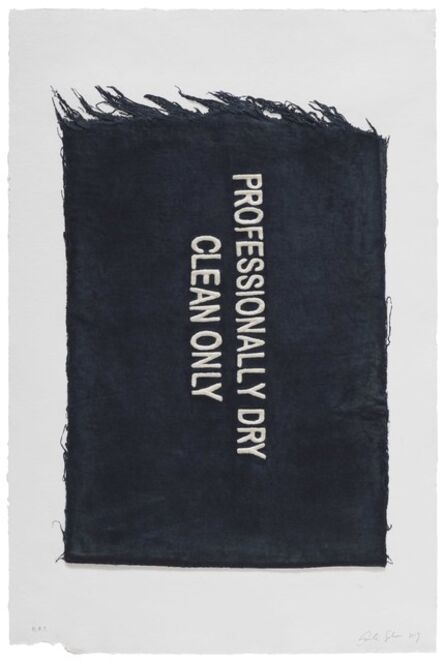 Analía Saban, 'Professionally Dry Clean Only, Clothing Tag', 2019