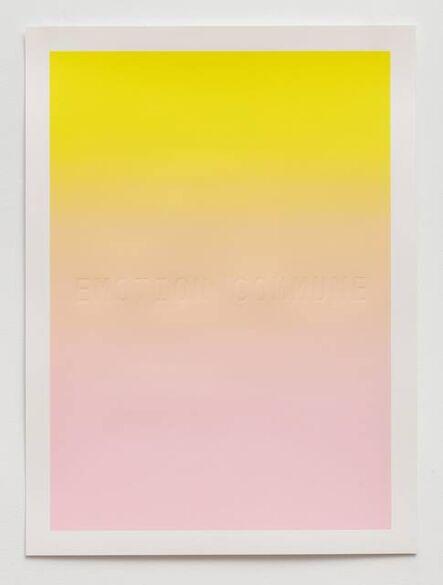 Mika Tajima, 'Emotion Commune', 2017