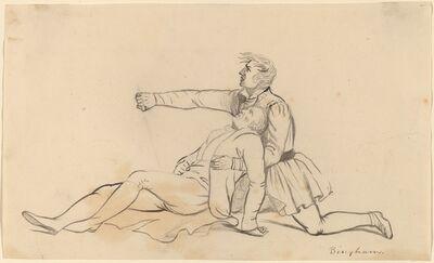George Caleb Bingham, 'Two Men Figures'