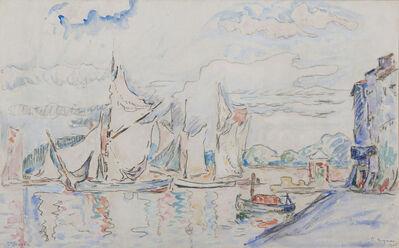 Paul Signac, 'Voiliers à Saint-Tropez', 1906