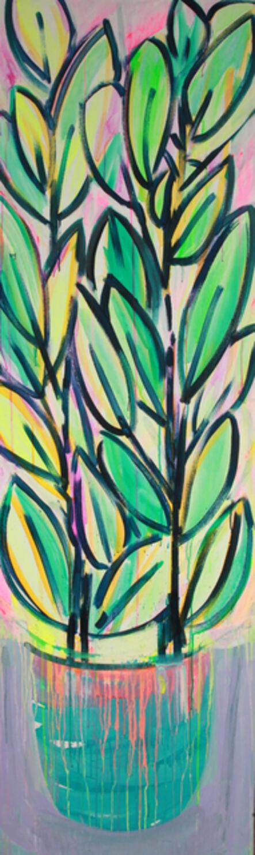 Erin Rachel Hudak, 'Potted prism plant (1)', 2019