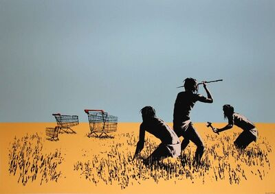 Banksy, 'Trolley Hunters', 2007