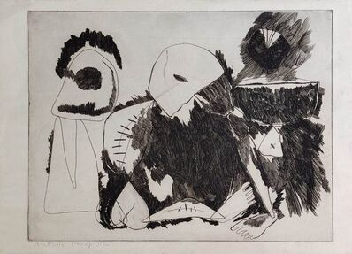 """Somnath Hore, 'Famine, Etching on Paper by Modern Indian Artist """"In Stock""""', 1990-2000"""