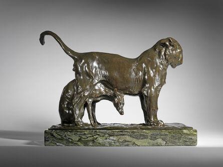 Rembrandt Bugatti, 'Lion Cub and Greyhound', 1906