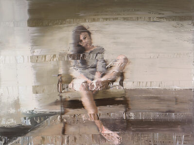 Andy Denzler, 'Woman with 60's Chair', 2018
