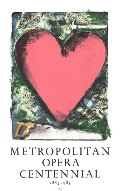 Jim Dine, 'Pink Heart', 1983