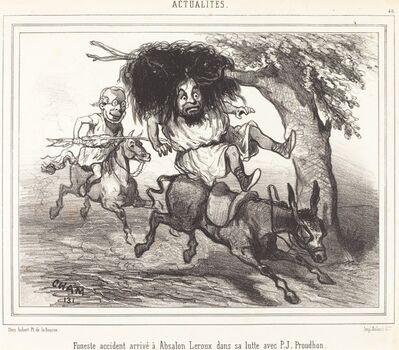 Amédée Charles Henri Cham, 'Funeste accidente arrivé à Absalon Leroux', 1831