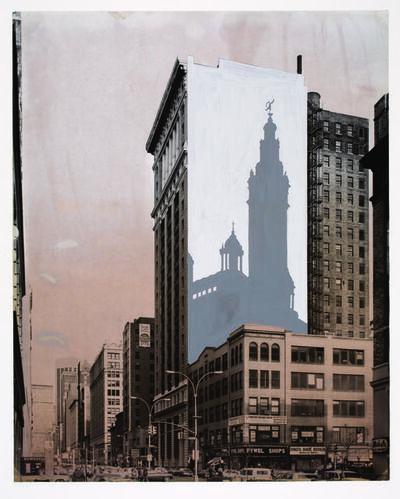 Richard Haas, 'Proposal to Paint the Shadow of Madison Square Garden Tower on the Corner of Park Avenue South and 23rd Street', 1976