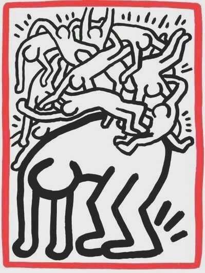 Keith Haring, 'Fight Aids Worldwide', 1990