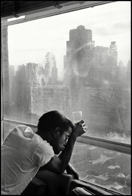 Burt Glinn, 'Sammy Davis Jr. looks out of a Manhattan window. New York', 1959