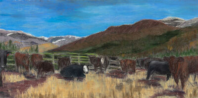 Susan Sussman, 'Cattle at the Green Gate', 2020
