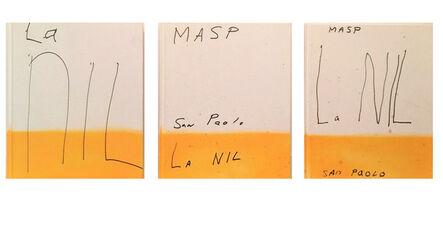 "Julian Schnabel, 'Set of 3- ""La NIL"", Book Editions, UNIQUE Painted Covers', 2014"
