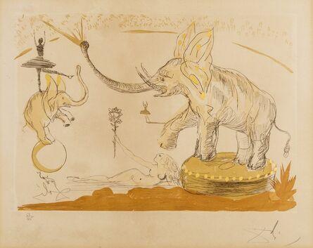 Salvador Dalí, 'Eléphants (Field 65-5F; M&L 139a)', 1965