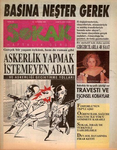 'Sokak [Street], Issue 12', November 1989