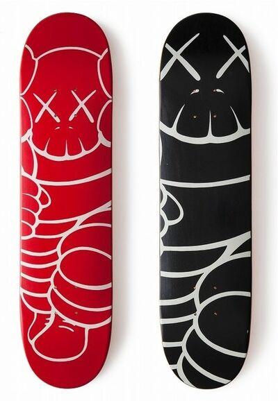 KAWS, 'Skateboard set of 2', 2001