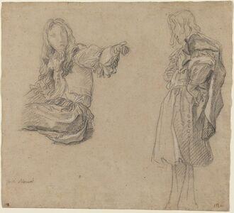 Carlo Maratti, 'Two Men in Elaborate Costumes', ca. 1680