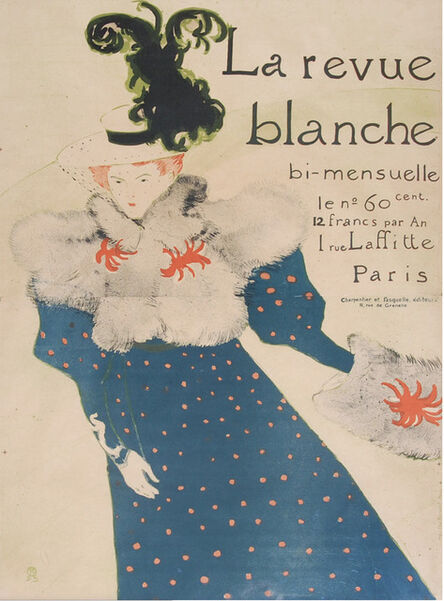 Henri de Toulouse-Lautrec, 'La Revue Blanche', 1890