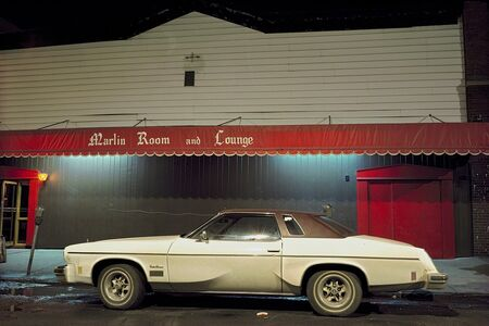 Langdon Clay, 'Marlin Room Car, Cutlass Supreme in front of the Marlin room and Lounge, Hoboken, NJ', 1975