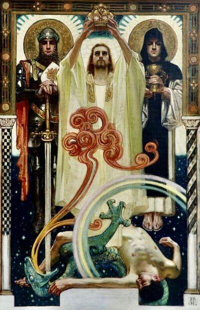 Joseph Christian Leyendecker, 'Christ with Sainted Knights', 1900s
