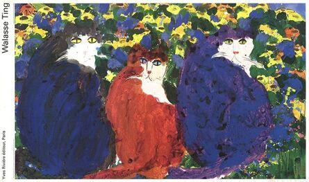 Walasse Ting 丁雄泉, '3 Cats', 1990-2000