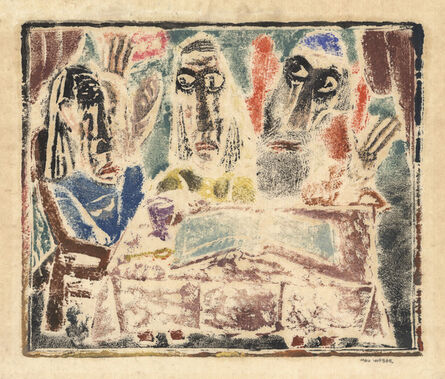 Max Weber, 'Feast of Passsover. (The Holy Book.)', 1920