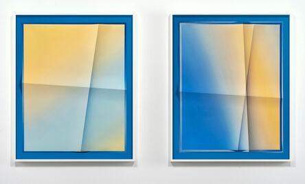 John Houck, 'Accumulator #34.7, 2 Color Gradient #E4C678, #9DB9C5', 2020