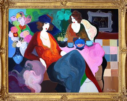 Itzchak Tarkay, 'Two Women Enjoying Tea', ca. 1990