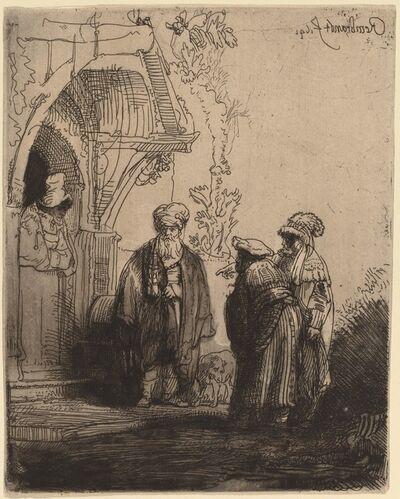 Rembrandt van Rijn, 'Three Oriental Figures (Jacob and Laban?)', 1641