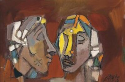 M. F. Husain, 'Untitled (Two Heads)'