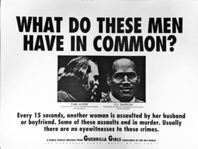 Guerrilla Girls, 'Guerrilla Girls, What Do These Men Have In Common, Poster', 1995