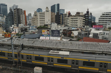 Chim↑Pom, 'May, 2020, Tokyo (Okubo Station)  - Drawing a Blueprint - ', 2020
