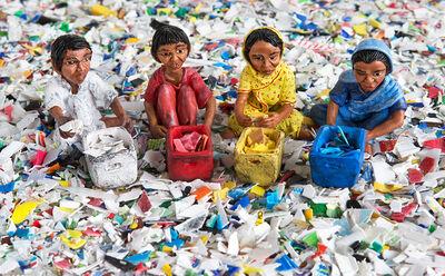 Karine Giboulo, 'Recyclage de couleurs', 2013