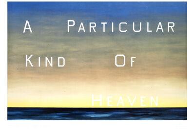 Ed Ruscha, 'A Particular Kind Of Heaven', 1983