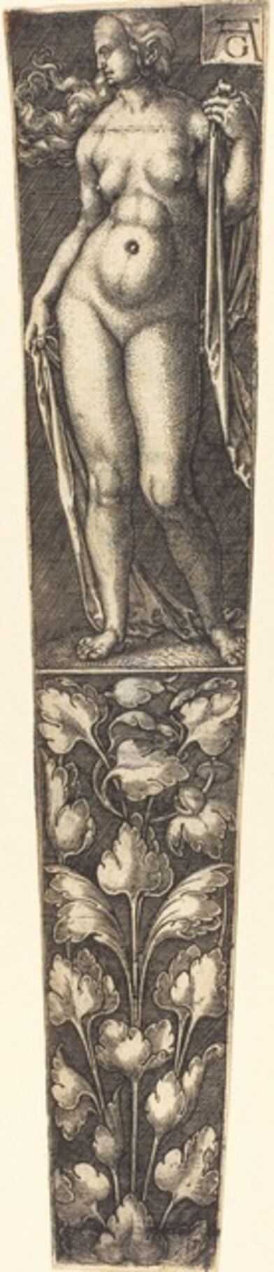 Heinrich Aldegrever, 'Dagger Sheath with Nude Woman'