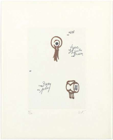 Claes Oldenburg, '8 sheets from: Notes in Hand', 1972