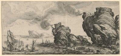 Jacques Callot, 'Le Combat Naval [The Naval Combat]', 1618-1620