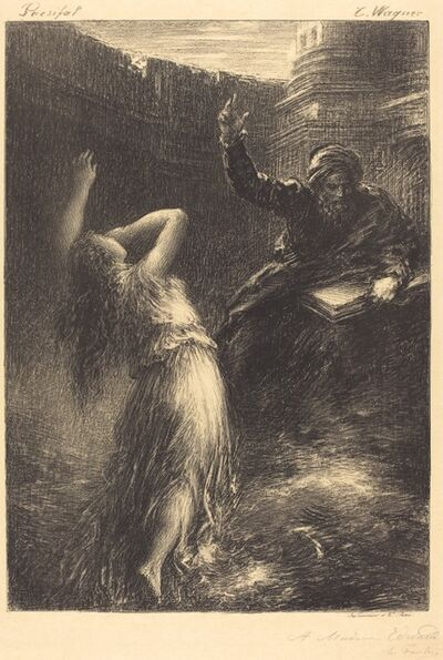 Henri Fantin-Latour, 'Evocation of Kundry (2nd plate)', 1883