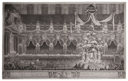Charles-Nicolas Cochin II, 'State Funeral of King Philip of Spain (1683-1746) at Notre Dame Cathedral, Paris.', 1746