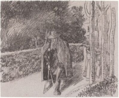 Camille Pissarro, 'Beggar with a Crutch (Mendiant a la bequille)', 1897