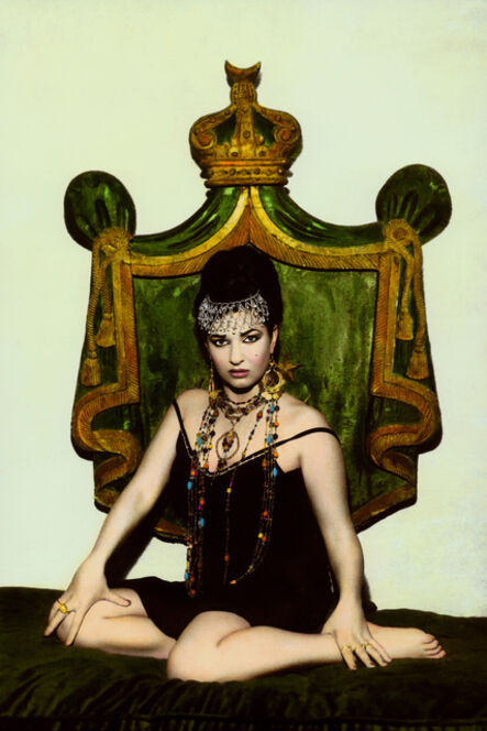 Youssef Nabil, 'Natacha and crown, Cairo 2000', 2000