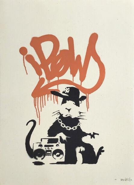 Banksy, 'Gangsta Rat (Orange) AP - Signed ', 2005