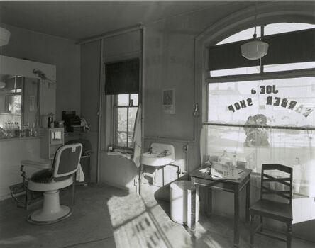 George Tice, 'Joe's Barber Shop, Paterson, New Jersey', 1970