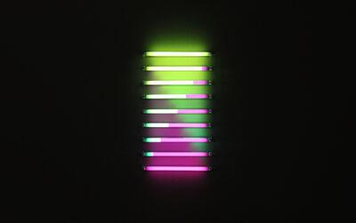 James Clar, '2 Folds (purple green)', 2013